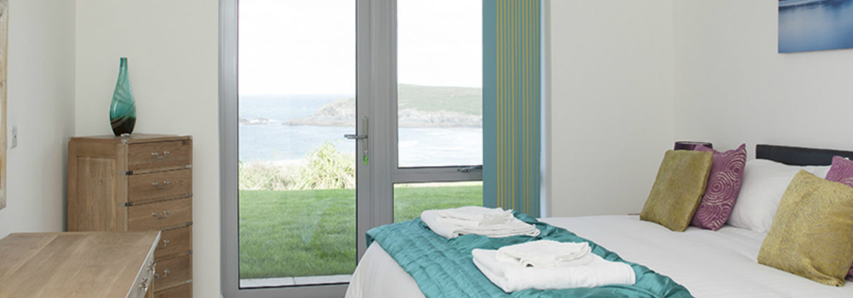 Apartment 2 Crantock Bay bedroom 1210x423 - Holiday Apartment 2