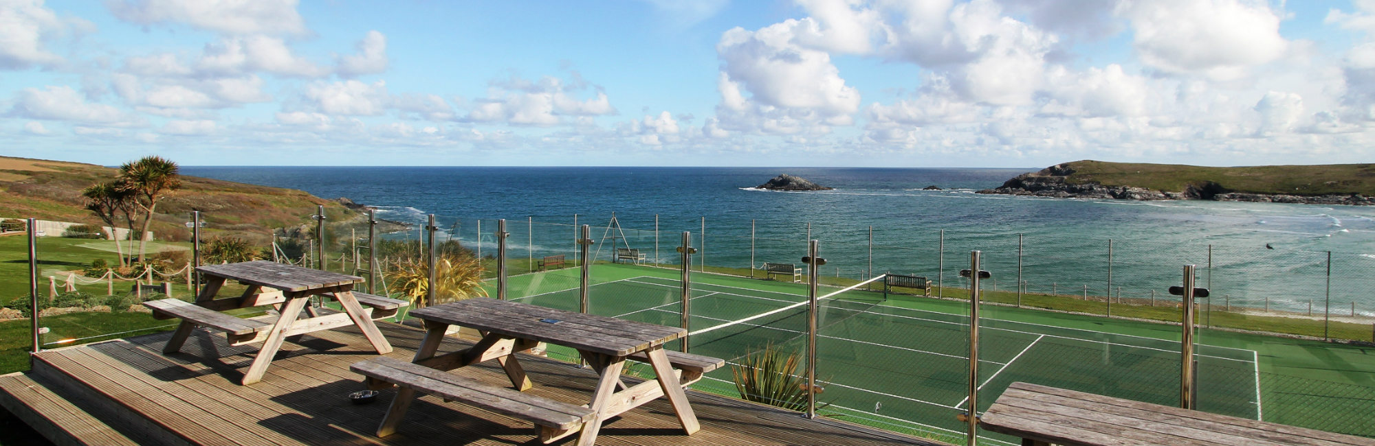 C Bay Cafe tennis court view - Leisure Club