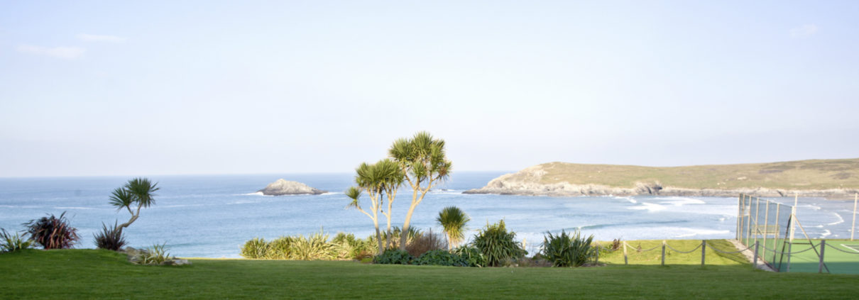 View from Apartment 2 Crantock Bay bedroom 1210x423 - Come and stay in Apartment 2 this month....
