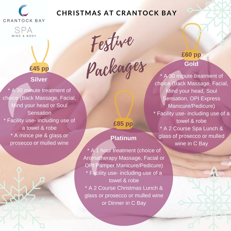 Christmas Spa Packages.Christmas Pamper Parties Crantock Bay