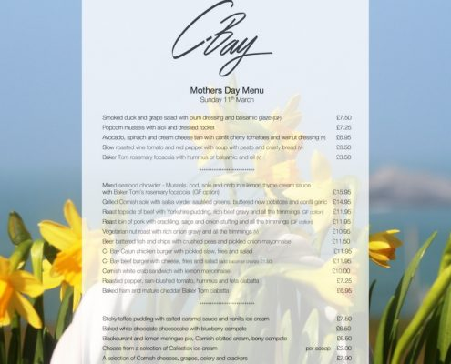 Mothering Sunday Menu 11th March 18 495x400 - Welcome to Crantock Bay