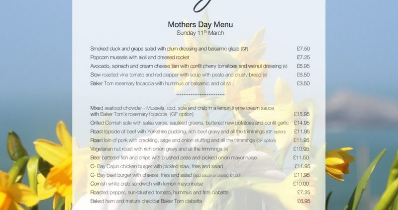 Mothering Sunday Menu 11th March 18 800x423 - News & Blog