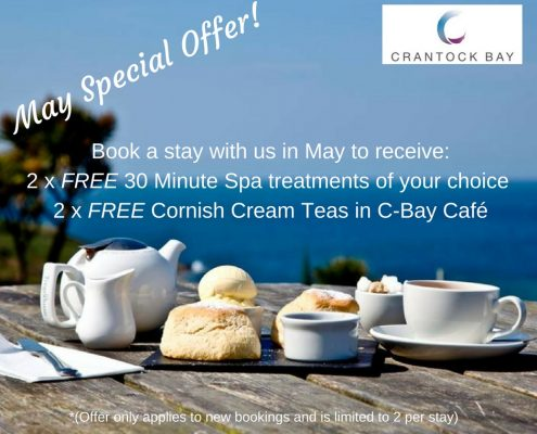 MAY SPECIAL OFFER 495x400 - Welcome to Crantock Bay
