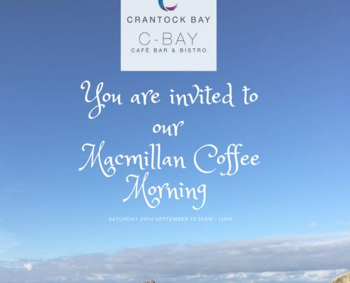 Macmillan Coffee Morning 29th Sept 18 495x400 - Welcome to Crantock Bay