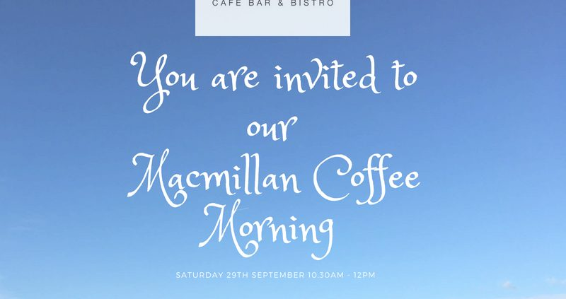 Macmillan Coffee Morning 29th Sept 18 800x423 - Macmillan Coffee Morning 29th Sept 18