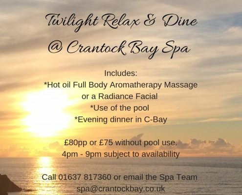Twilight Relax Dine 1 495x400 - Welcome to Crantock Bay