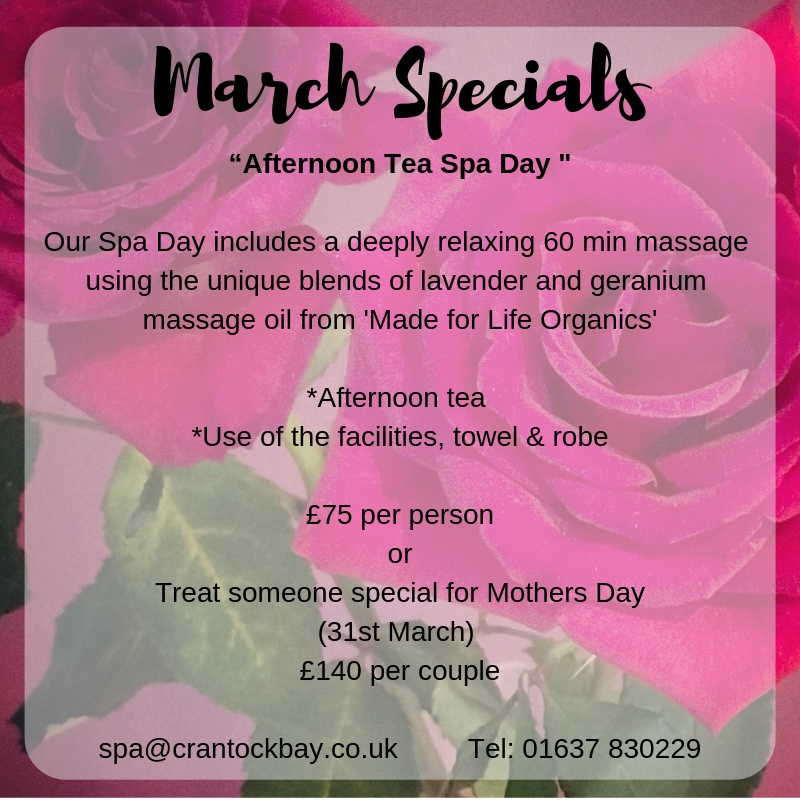 March Specials 1 - March Special Offer