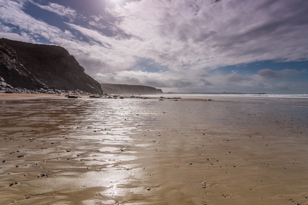 Wattergate bay sky - Where to find dog friendly beaches in Cornwall this summer