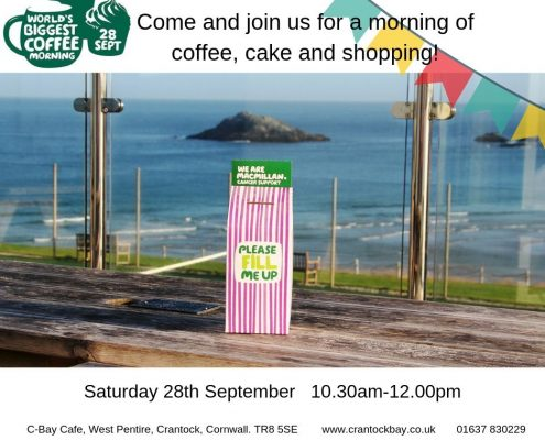 Macmillan Coffee Morning 3 495x400 - Welcome to Crantock Bay