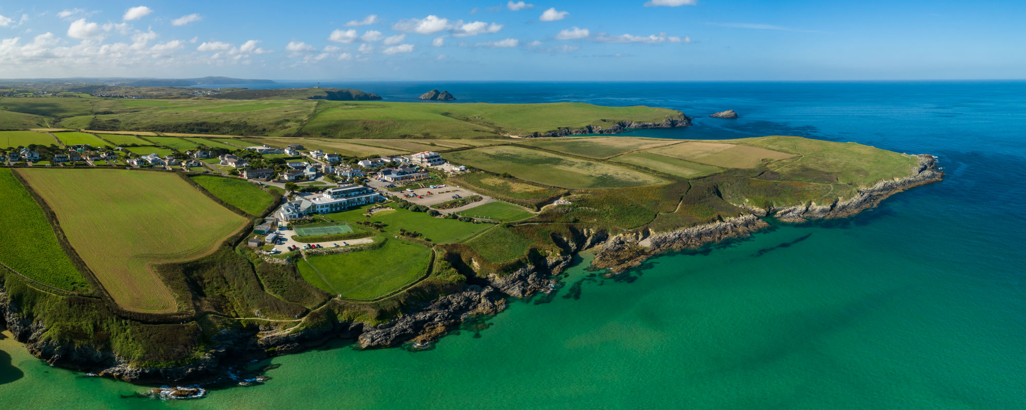 Aerial Cornwall 1 - Welcome to Crantock Bay