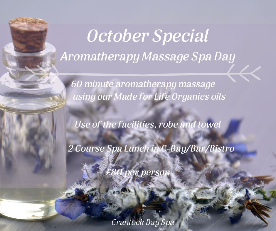 October Special Aromatherapy Massage Spa Day 3 - October Spa Day Offer