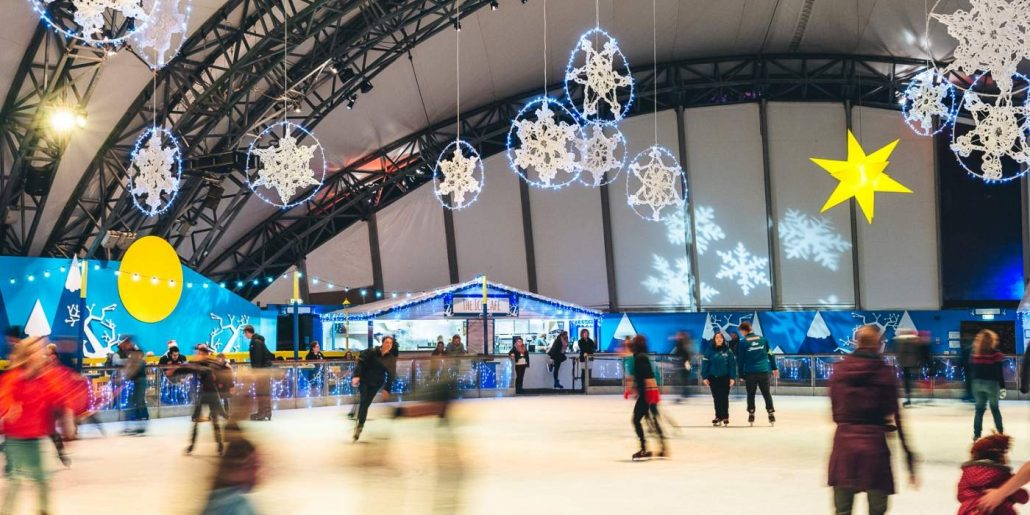 ice rink eden 2014 1030x515 - What to see and do around Cornwall this Christmas