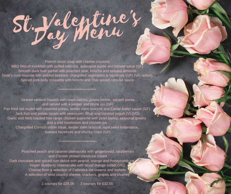 Valentin 11 - St. Valentine's Day Menu
