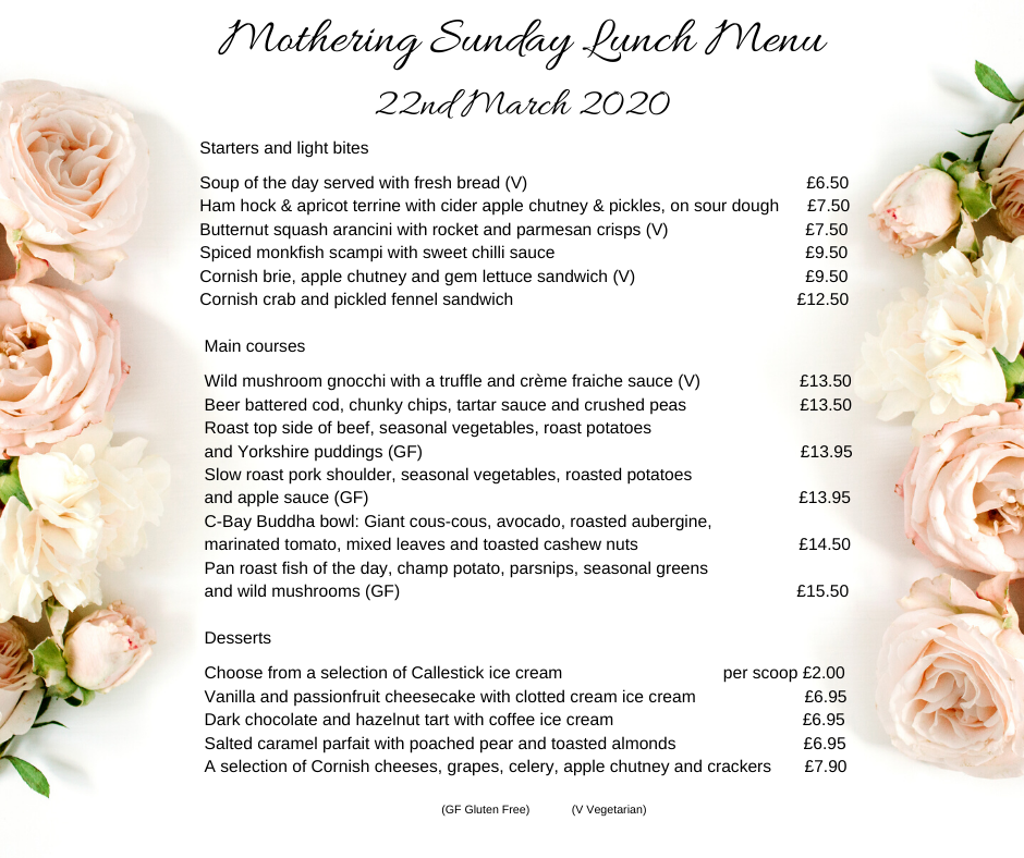 Mothering Sunday Menu 2020 1 - Mothering Sunday Menu