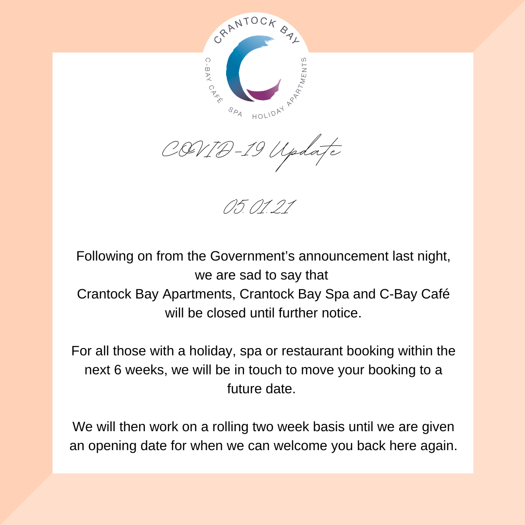 Covid update - Welcome to Crantock Bay